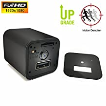 Hidden Camera Charger Adapter,ESROVER 1080P HD Usb Wall AC Plug Charger Home Security Covert Nanny Spy Video & Audio Camcorder adapter(not include sd card)