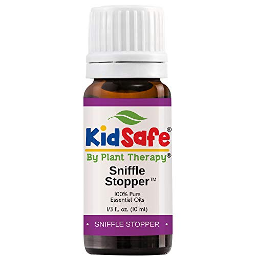 Plant Therapy Essential Oil | Sniffle Stopper Synergy | Respiratory Support Blend | 100% Pure, KidSafe, Undiluted, Natural Aromatherapy, Therapeutic Grade | 10 milliliter (⅓ ounce)