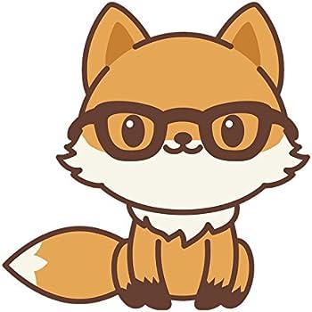 Amazon Com Adorable Kawaii Fox Emoji Cartoon 1 Vinyl Decal Sticker