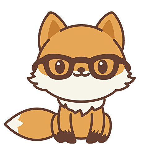 Adorable Kawaii Fox Emoji Cartoon #1 Vinyl Decal Sticker