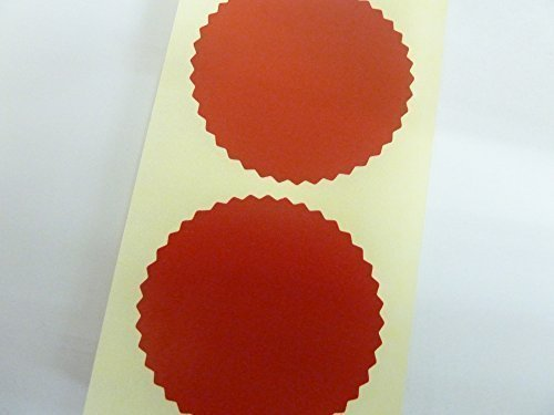 Minilabel Roll Of 1000 50Mm Serrated Edge, Gloss Dark Red, Certificate Wafer Company Seal Labels, Stickers For Embossing, Awards & Rewards ()