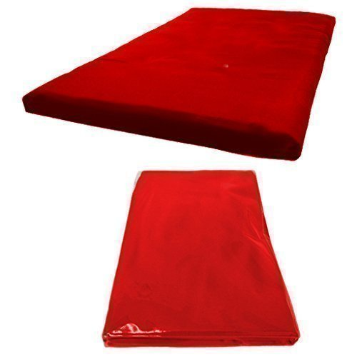 Futon Mattress COVER ONLY, Single 1 Seater in Red. Available in 11 Colours Matching Bedroom Sets