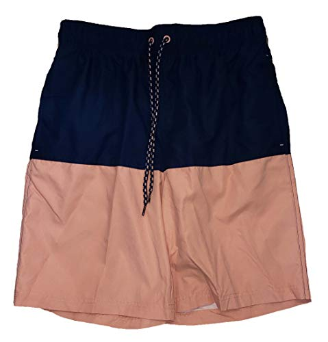 Blue Cove/Coral Reef Color Block All Guy Swim Short Trunks - X-Large
