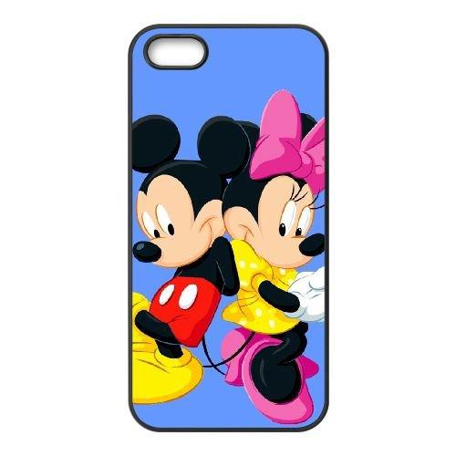 Disney Mickey Mouse Minnie Mouse GB73EQ5 coque iPhone 5 5s téléphone cellulaire cas coque S2HI3E5EA