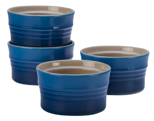 Le Creuset Stoneware Set of 4 Stackable Ramekins, 7-Ounce, Marseille by Le Creuset