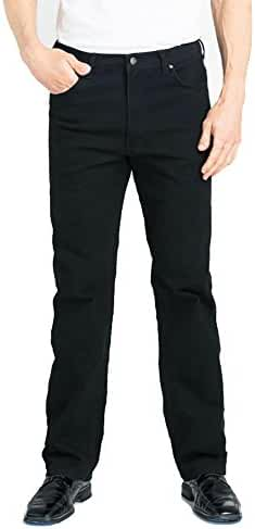 Grand River Jeans Stretch Denim Pants for Men-Black-Cotton/Spandex