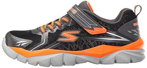 Fitness Skechers 95407n charcoal Electronz Trainers Red orange Strap Black Lightwight Black Kids blazar q1rC1t