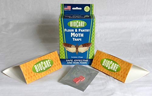 BioCare Flour and Pantry Moth Traps with Pheromone Lures, Nontoxic and Pesticide-Free, Made in USA, 2 Count