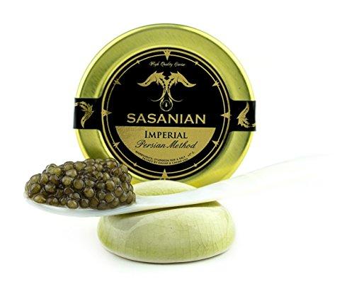 GUARANTEED OVERNIGHT! Fresh Imperial Golden Osetra Caviar Malossol 4 (Caspian Imperial Osetra Caviar)