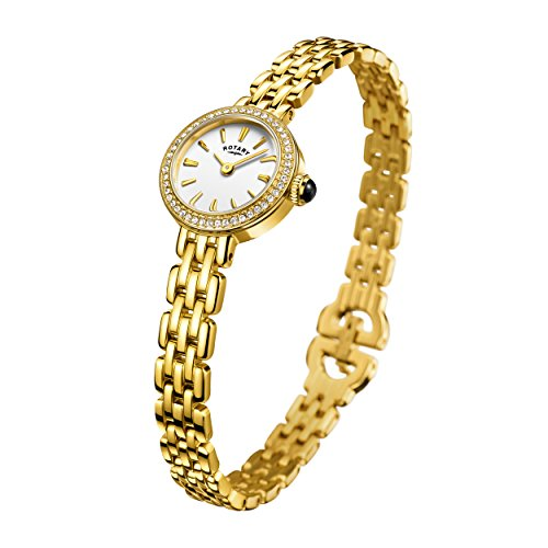 Rotary Women's LB05053/02 Cocktail Analog Display Quartz Gold Watch