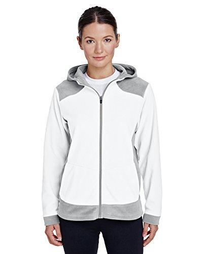 - TM365 Women's TM36-TT94W-Rally Colorblock Microfleece Jacket, White/Soft Pink/Silver, Small