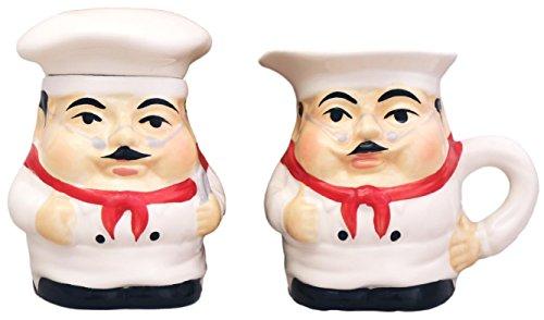 Chefs Sugar Bowl - Fat Chef Sugar and Creamer Set