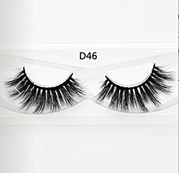 a4091e2a31c Amazon.com : 3D Silk Eyelashes Hand Made Natural Long Faux Mink Lashes  False Lashes Extensions Makeup : Beauty