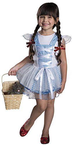 Rubies Wizard of Oz 75th Anniversary Dorothy Tutu Dress Costume, Child Small (Dorothy Shoes From The Wizard Of Oz)