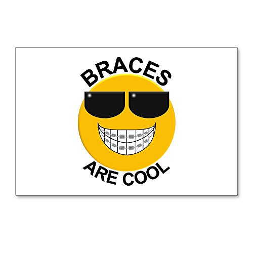 CafePress - Braces Are Cool/Sunglasses Postcards (Package Of - Postcards (Package of 8), 6