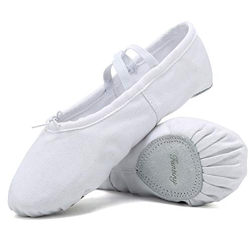Ballet Shoes Ballet Slippers Girls Ballet Flats Canvas Dance Shoes Yoga Shoes(Toddler/Little Kid/Big Kid/Women/Boy) -