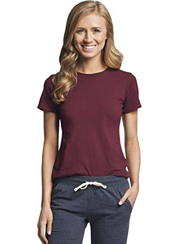 Russell Athletic Women's Essential Short Sleeve Tee, Maroon, XL