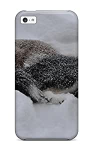 4183602K28189991 Top Quality Rugged Animal Wolf Case Cover For Iphone 5c