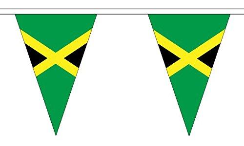 Davids Tag 30,5/x 20,3/cm 5/Meter 12/ Jamaica Jamaika Karibik Triangle Die dreieckige Flagge 100/% Polyester Material Wimpelkette ideal Party Dekoration f/ür Street House Kneipen Vereine Schulen St