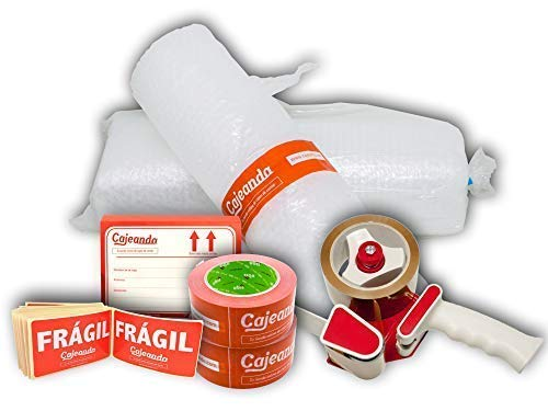 Cajas Cartón para Mudanzas (Pack EXTRA GRANDE de 40 Cajas + Accesorios) - Cajas de Canal Simple, Doble y de Color Marrón. Fabricadas en España.