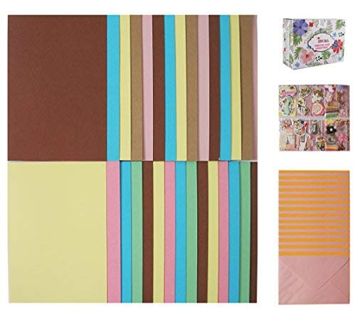 Making Kit Large Card - IDULL Card Making Kits with 30 Cards, 30 Envelopes and Embellishments