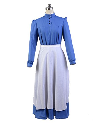 Women's Sophie Blue Dress Cosplay Costume Halloween Outfit Uniform XXX-Large (Howl's Moving Castle Sophie Cosplay Costume)
