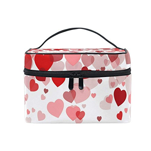 Makeup Bag Sweet Love Hearts Mens Travel Toiletry Bag Mens Cosmetic Bags for Women Fun Large Makeup Organizer by All agree (Image #6)