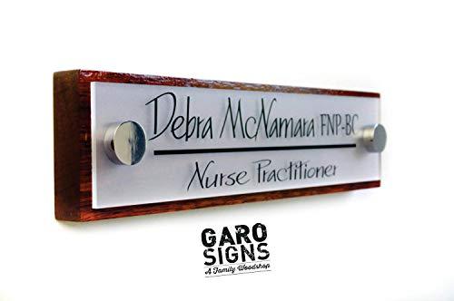 Handmade Personalized Nameplate - Personalized Door Office Name Plate - 10 x 2.5 inches