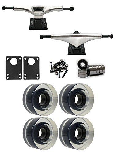 コア7.0 Longboard Trucksホイールパッケージ56 mm x 31 mm 83 aクリア [並行輸入品]   B078WTZZKP