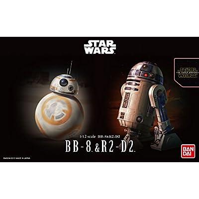 Bandai Hobby Star Wars 1/12 Plastic Model BB-8 & R2-D2