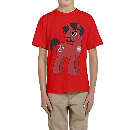Price comparison product image PTCY Design Kids Tee Pony Tony Stark Red Size XL