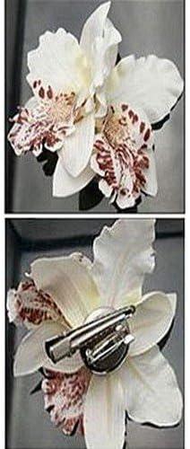 Pince Cheveux Mariage Broche Boutonni/ère  Fleur Dorchid/ée blanche