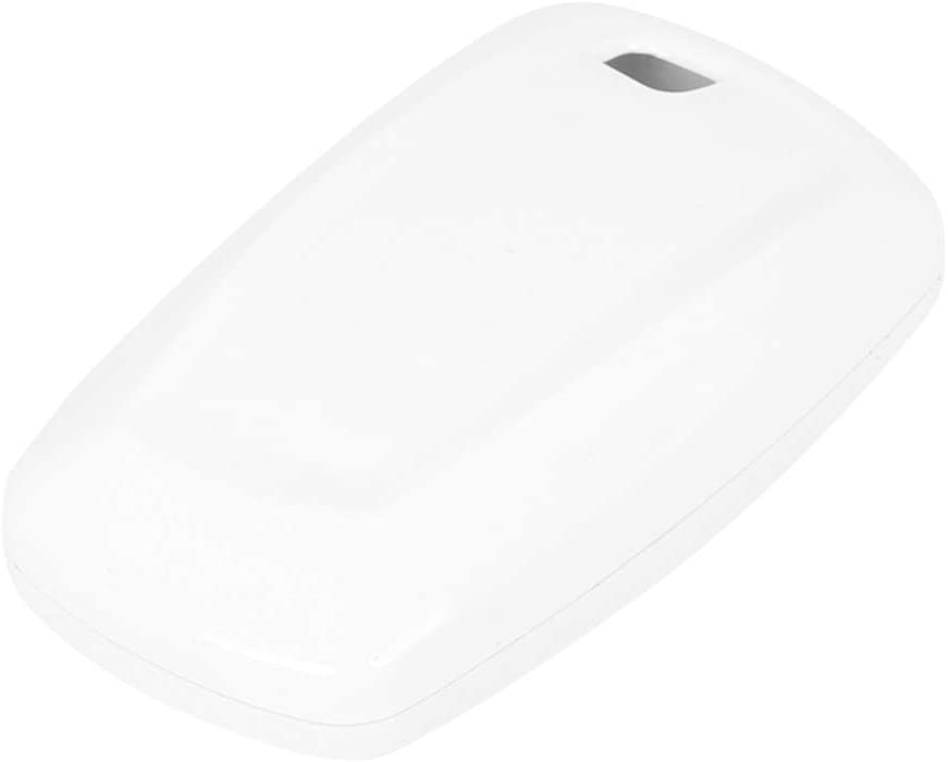 X AUTOHAUX TPU Car Smart Key Remote Flip Fob Cover Shell Protective Case for BMW 135i 12-13 White