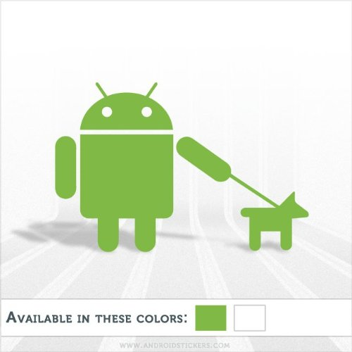 Android Walking the Dog Decal Cute Animal (Andy Sticker)