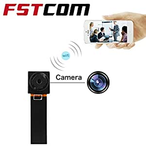 FSTCOM Hidden Camera 1080P HD Spy Nanny Cam Mini Small Wireless WiFi Security Camera Motion Detection Alarm Home Cameras Remote for iPhone/Android and Car Surveillance Video Recorder (1080P)