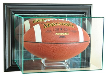 Wall Mounted Football Case (NFL Wall Mounted Football Glass Display Case, Black)
