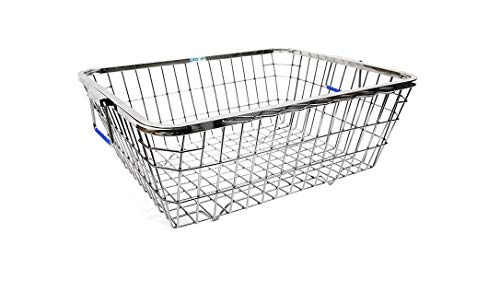 Planet High Grade Stainless Steel Dish Drainer Basket for Kitchen/Dish Drying Rack/Bartan Basket (Size:48x37x20 cm)