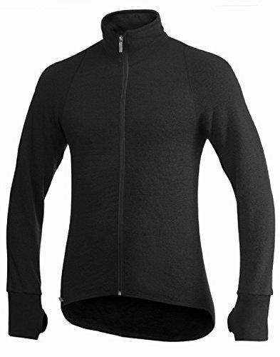 Complète Ouverture Zip Ullfrotté Noir Jacket Veste 600 Woolpower Manches Full Longues ROXYwqTR