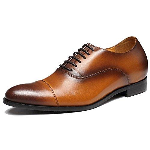 CHAMARIPA Zapatos Oxford de Cuero Para Hombre Para Ser 7 cm Más Alto - X92H38