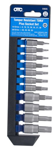 OTC 5905 11 Piece Tamper-Resistant TORX Plus Socket Set