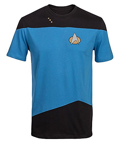 [Star Trek The Next Generation Mens Blue Costume T-Shirt | XXL] (Star Trek Costumes For Men)