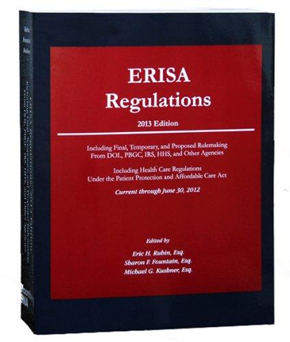 ERISA Regulations, 2013 Copy