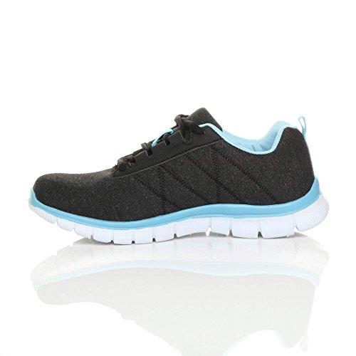 Donna Sneaker Donna Ajvani Black Sneaker Black Ajvani Blue qUdEqHxwn