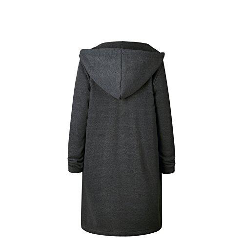 105906008b8 Your Gallery Women s Casual Long Hoodies Sweatshirt Coat Pockets Zip up  Outerwear Hooded Jacket Plus Size