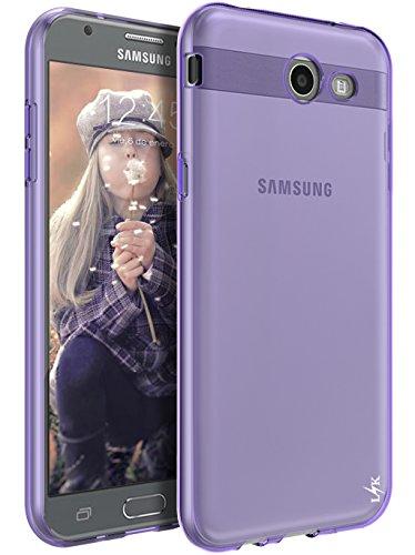 For Samsung Galaxy J7 V / J7 2017 / J7 Prime / J7 Perx / J7 Sky Pro / Galaxy Halo Case, LK Ultra [Slim Thin] TPU Rubber Soft Skin Silicone Protective Case Cover (Purple) from LK