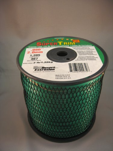 - SuperTrim2 SSQ080S3-2 3-Pound Spool of .08-Inch Home-Owner Grade Square Grass Trimmer Line, Green