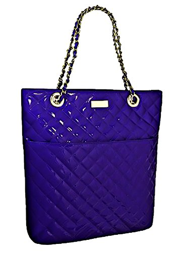 Patent Shoulder Polo Polo EyeCatchBags Quilted Purple Purple Shoulder Bag Bag Quilted EyeCatchBags Handbag Patent Handbag waxAFvq