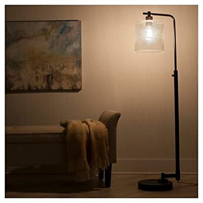 Hudson Industrial Floor Lamp - Ebony -ThresholdTM