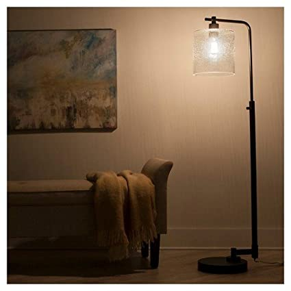 Amazon Com Hudson Industrial Floor Lamp Ebony Thresholdtm Home