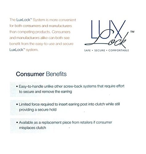 LuxLock Worlds most secure USA Patented Replacement Earring Back in 14k White-Yellow-Rose Gold